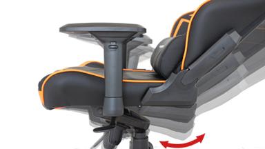 座面リクライニング&固定機能(チルト機能)